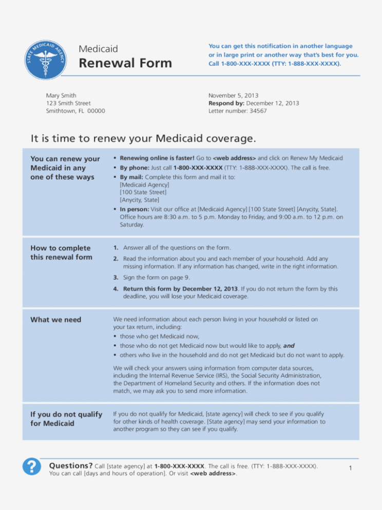 Nj Medicaid Renewal Application Form