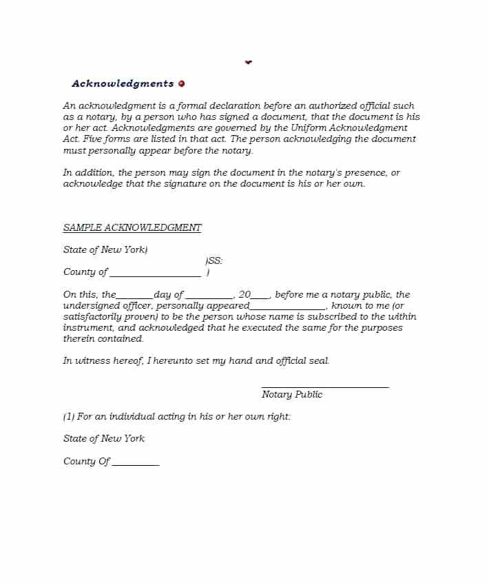 Notary Affidavit Format For Name Change