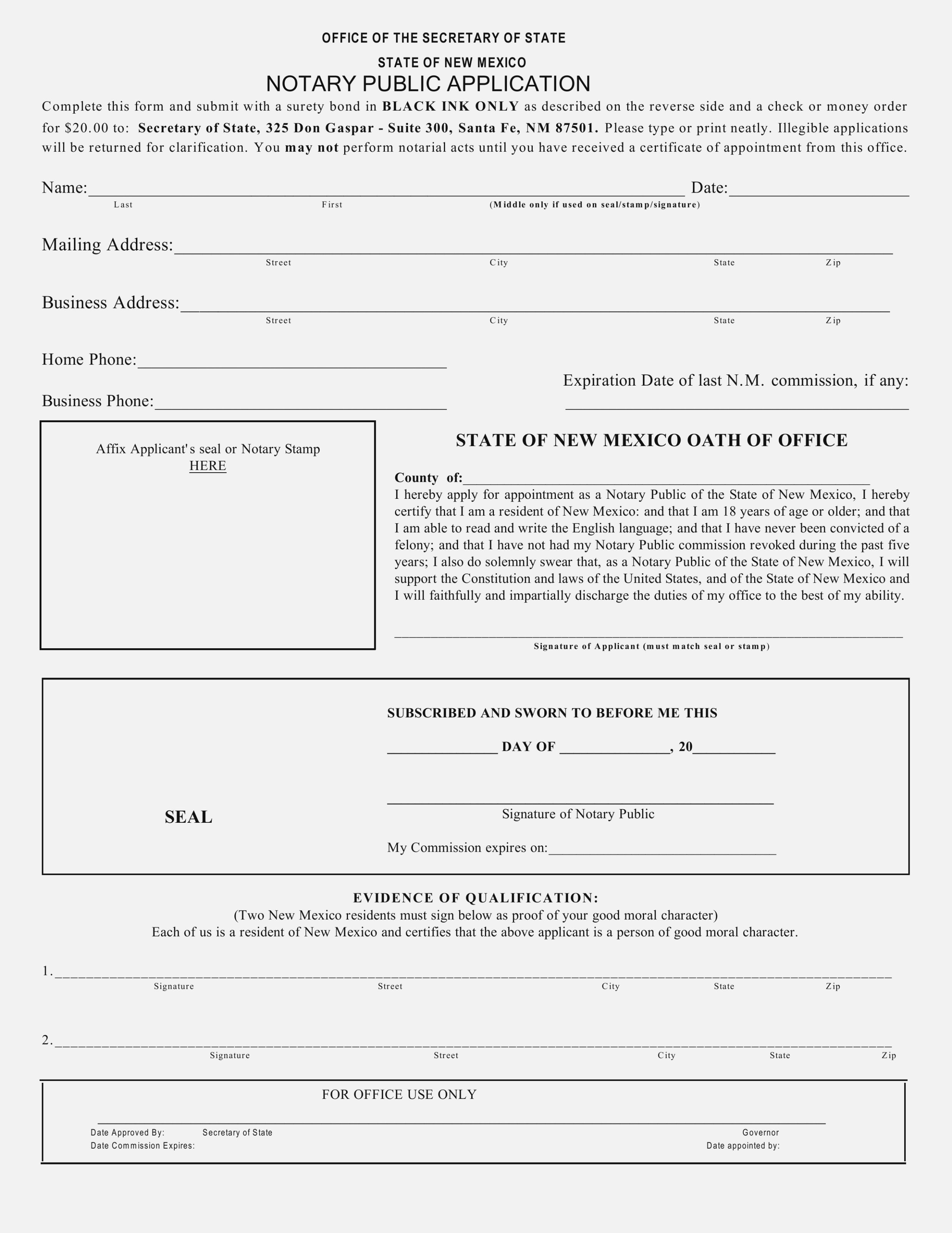 Notary Public Application Form Online 2018