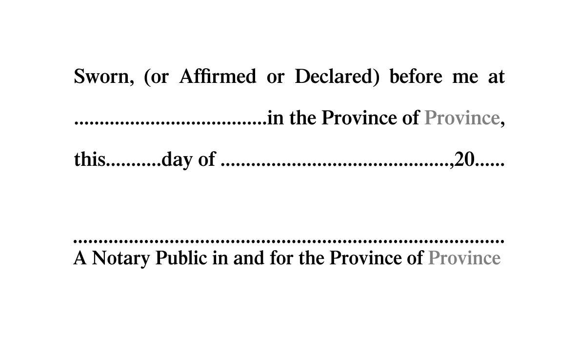 Notary Public Application Form Ontario