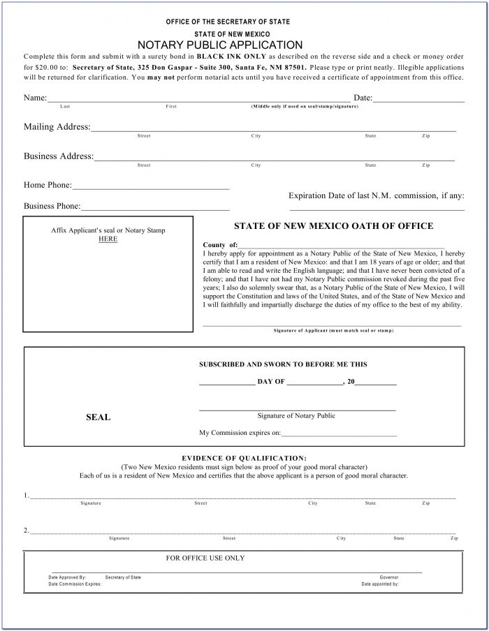 Notary Public Application Form Rajasthan