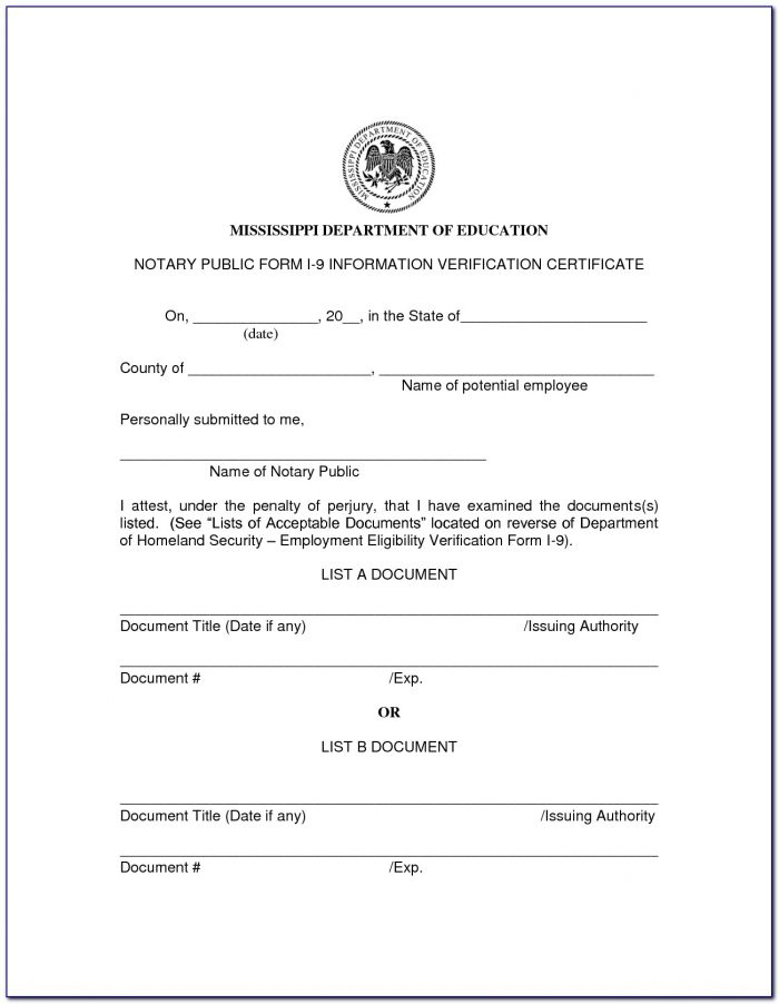 Notary Public Forms Georgia