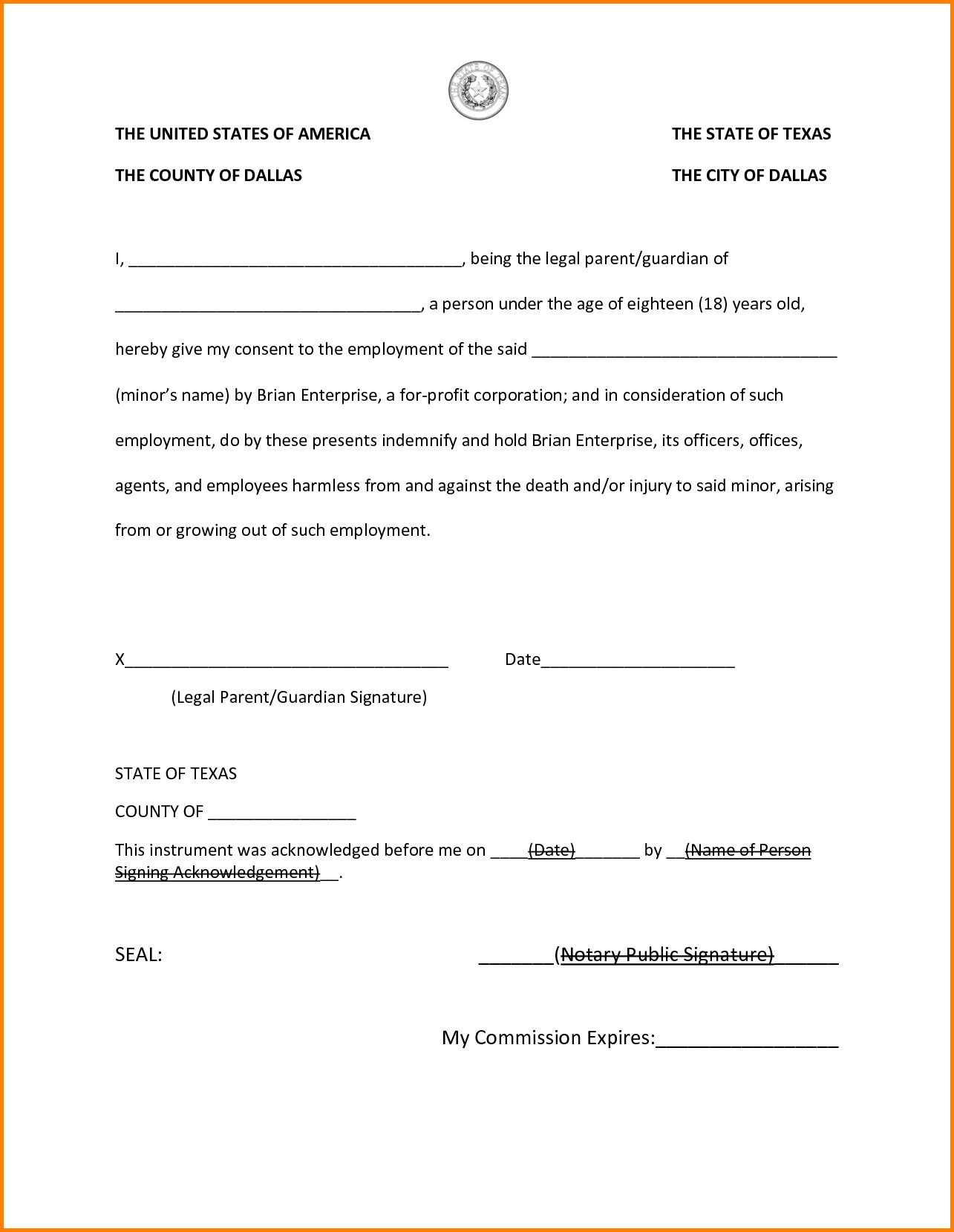 Notary Public Forms Texas