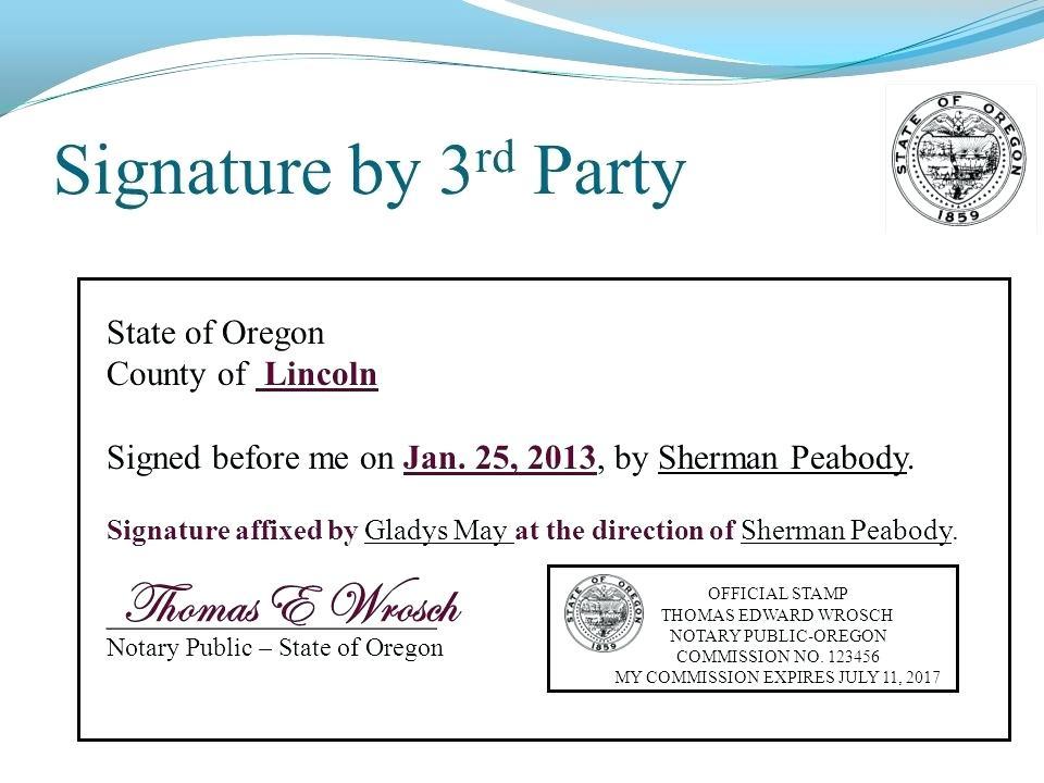 Notary Public Signature Form Nj