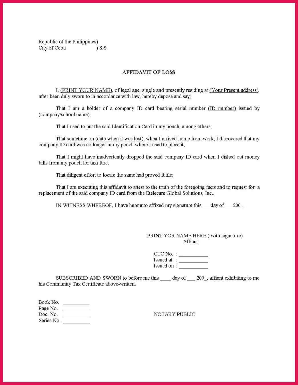 Notary Public On Resume 193877 Notary Signature Example Notarized Document Format
