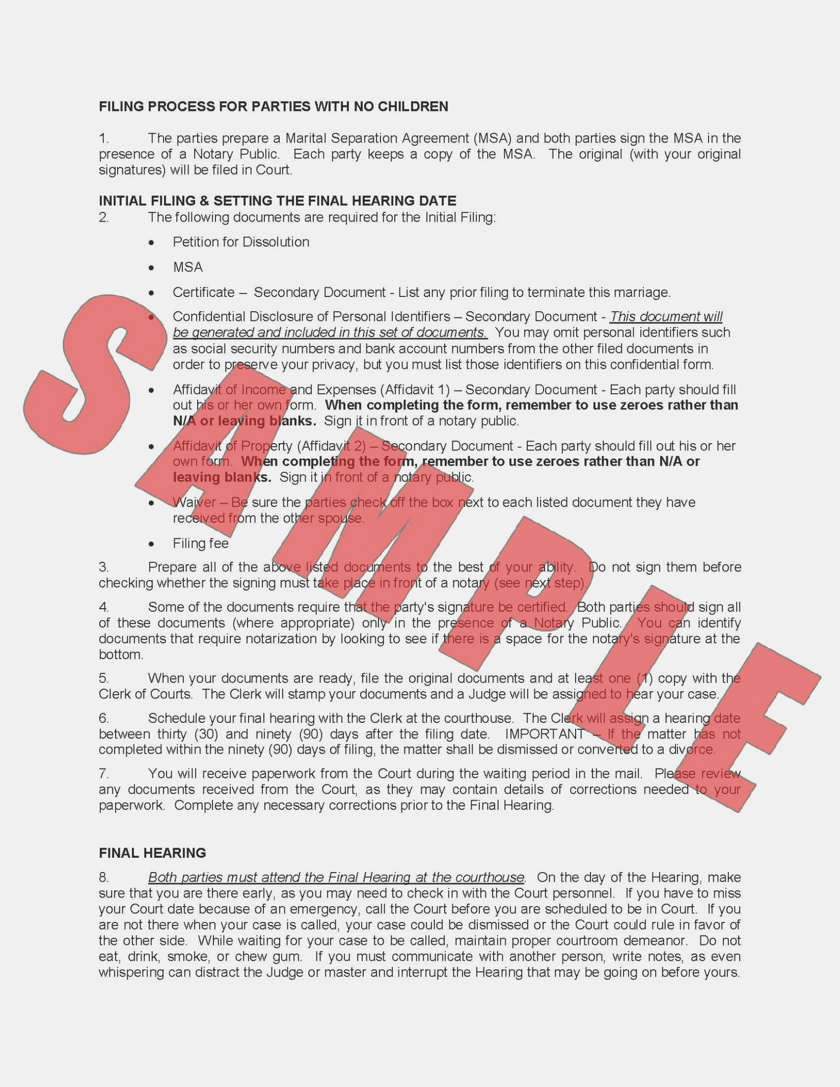 Ohio Petition For Dissolution Of Marriage Form