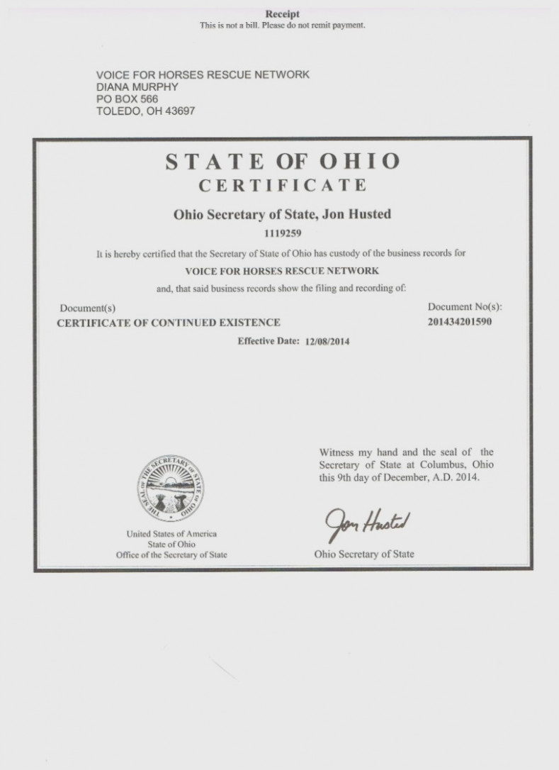 Ohio Secretary Of State Dissolution Forms