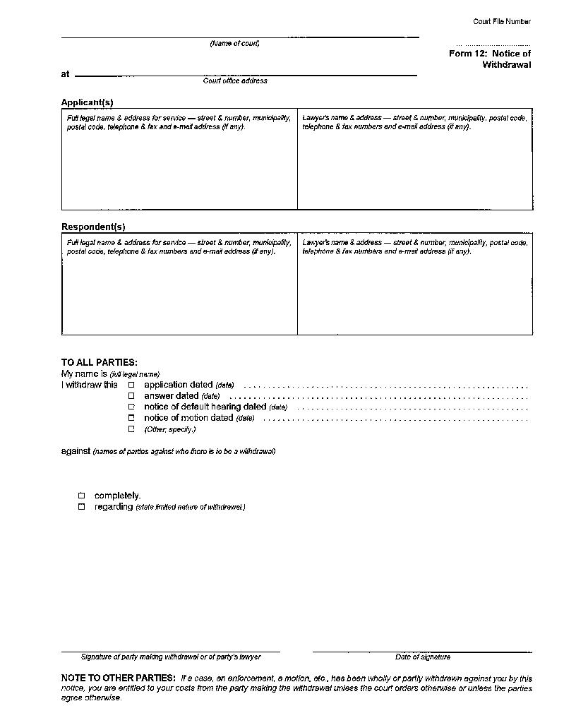 Ontario Divorce Forms 6b