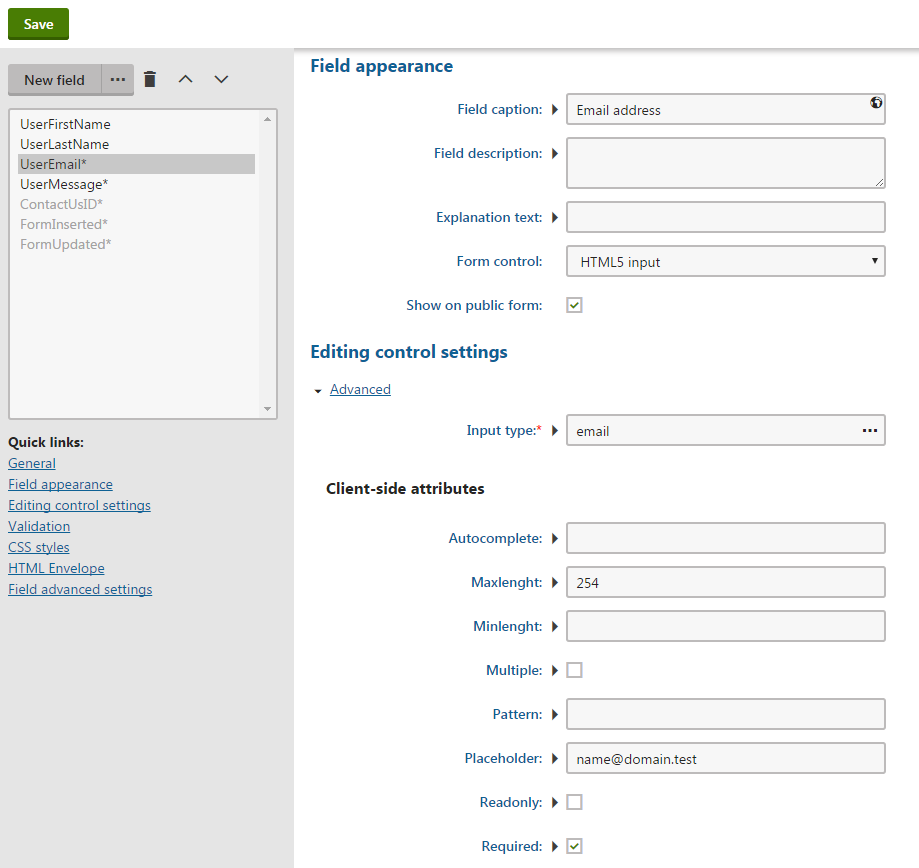 Open Source Form Builder Html5