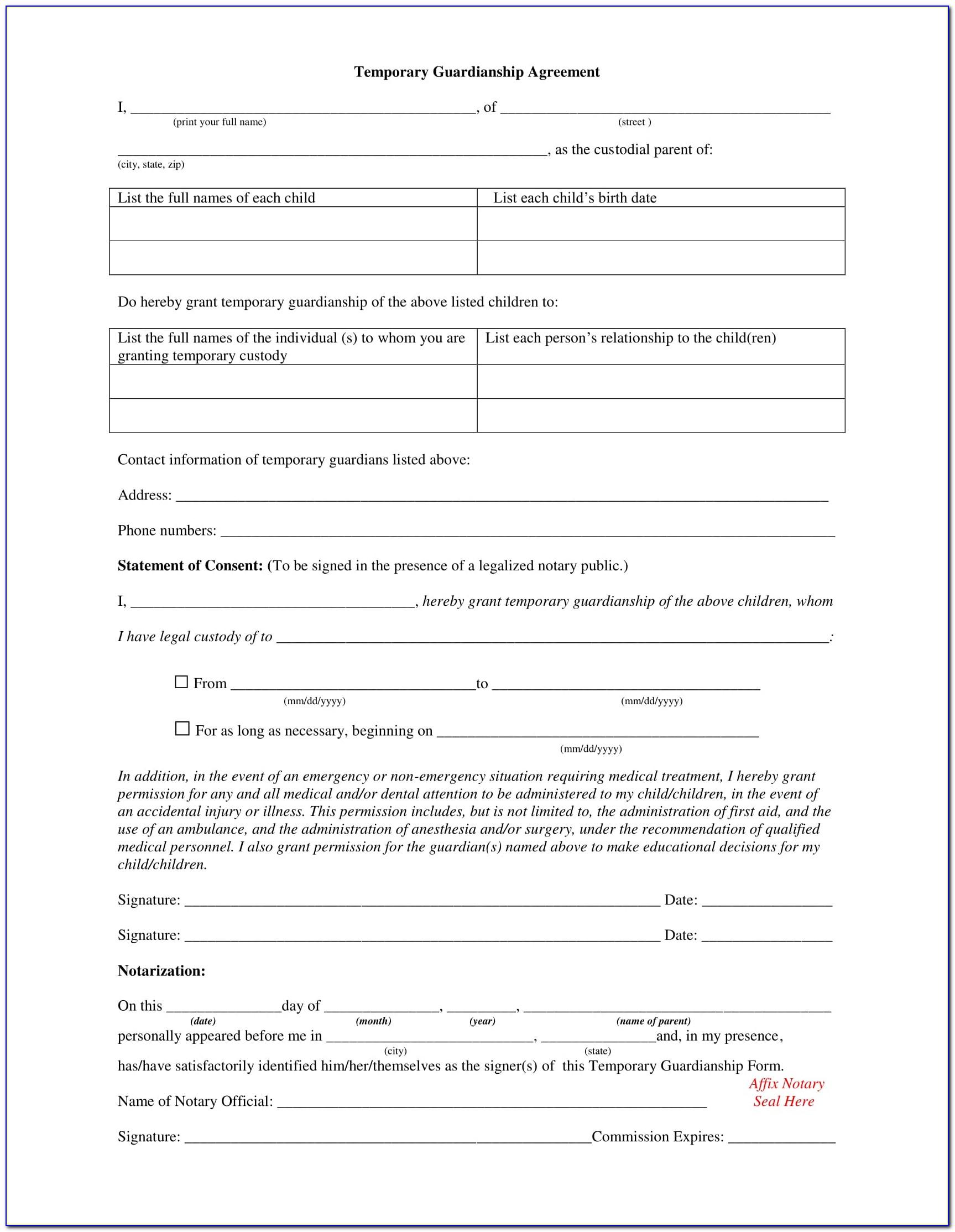 Oregon Petition For Guardianship Form