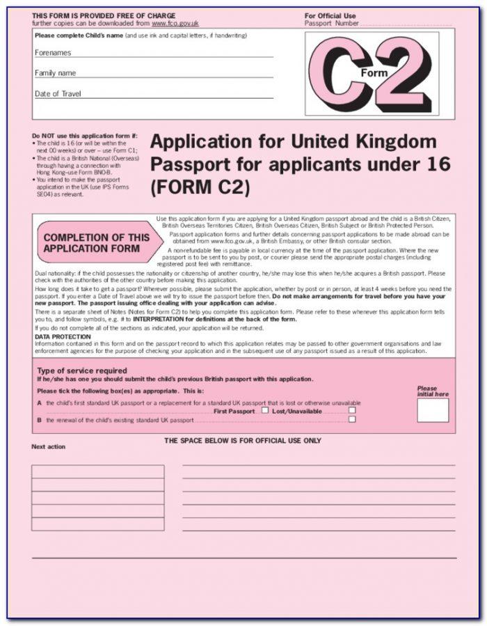 Passport Forms Renewal Uk