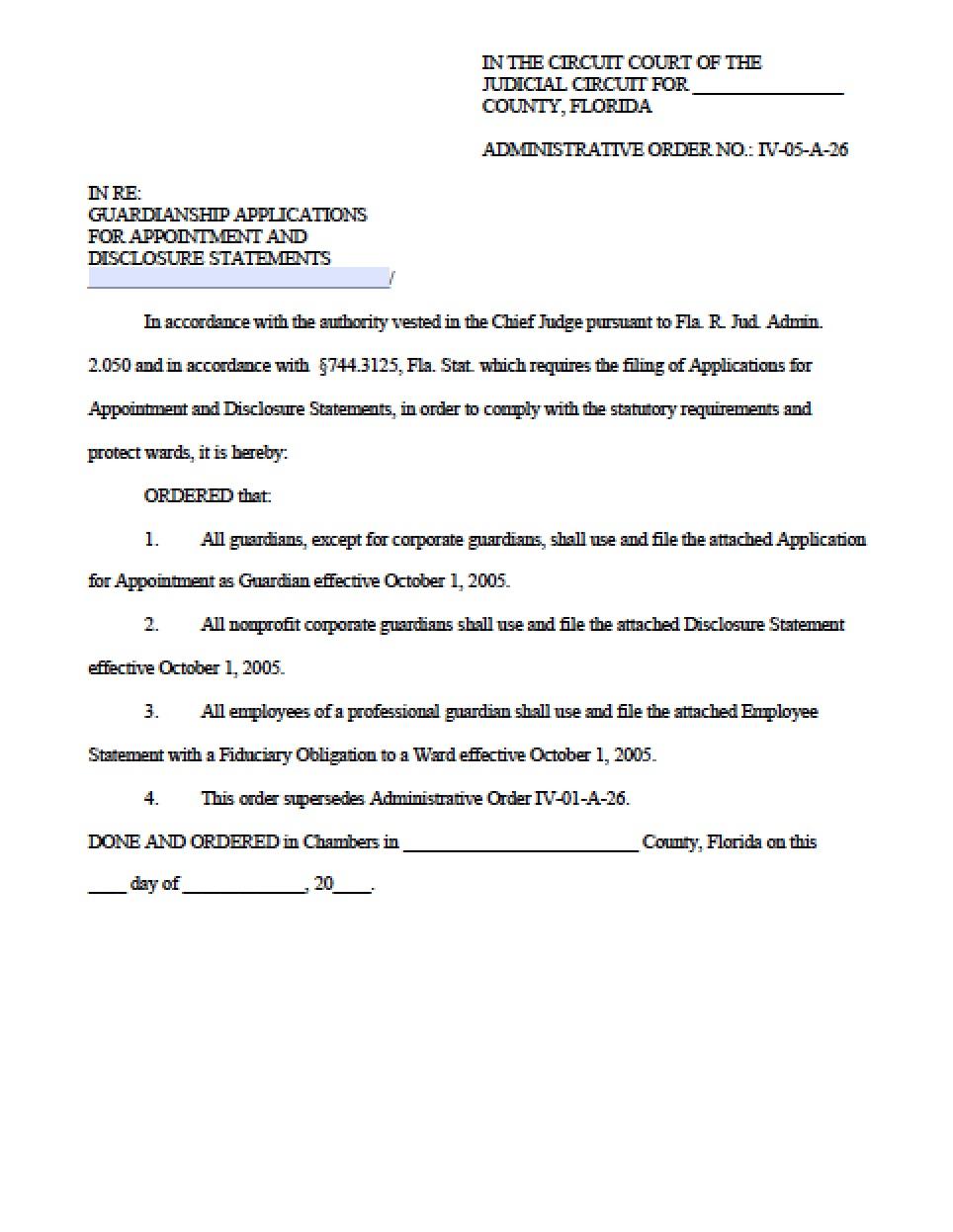 Petition For Guardianship Form Arkansas