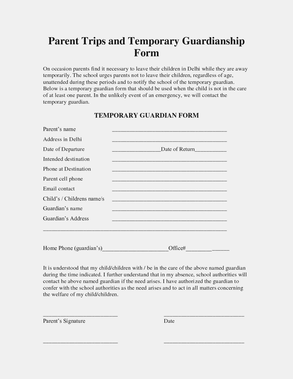 Petition For Guardianship Form Florida