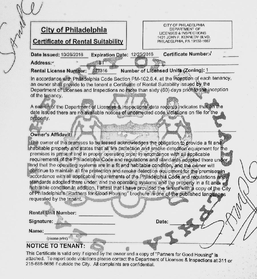 Philadelphia Fire Sprinkler Inspection Form