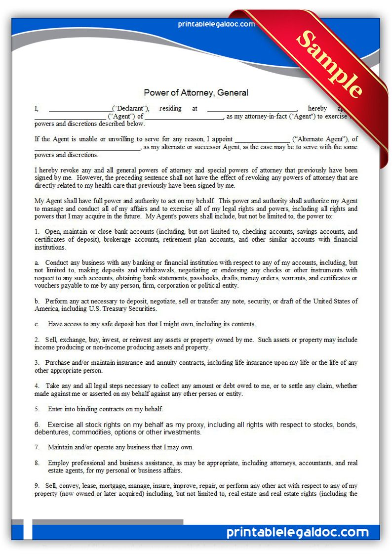 Power Of Attorney For Finances Ontario Form