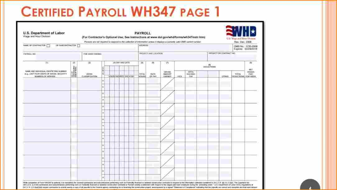 Prevailing Wage Certified Payroll Form Ny