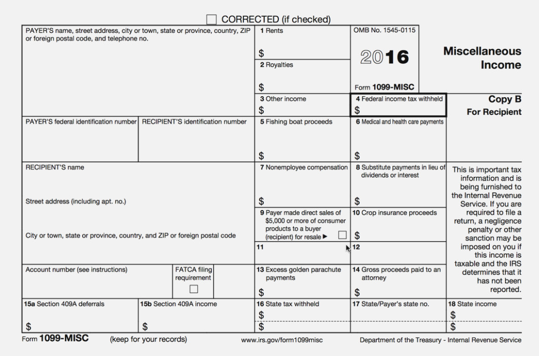 Print 1099 Misc Forms