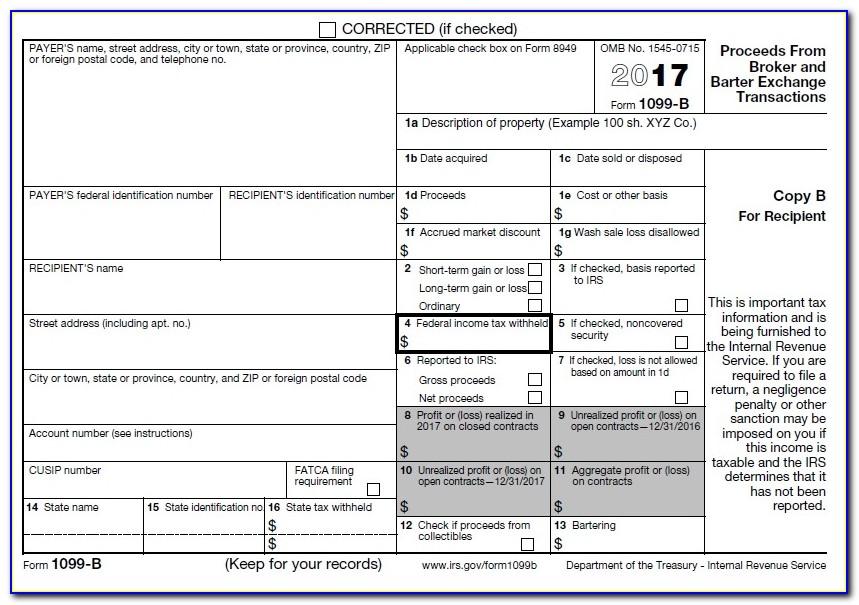 Print Blank 1099 Misc Form 2017