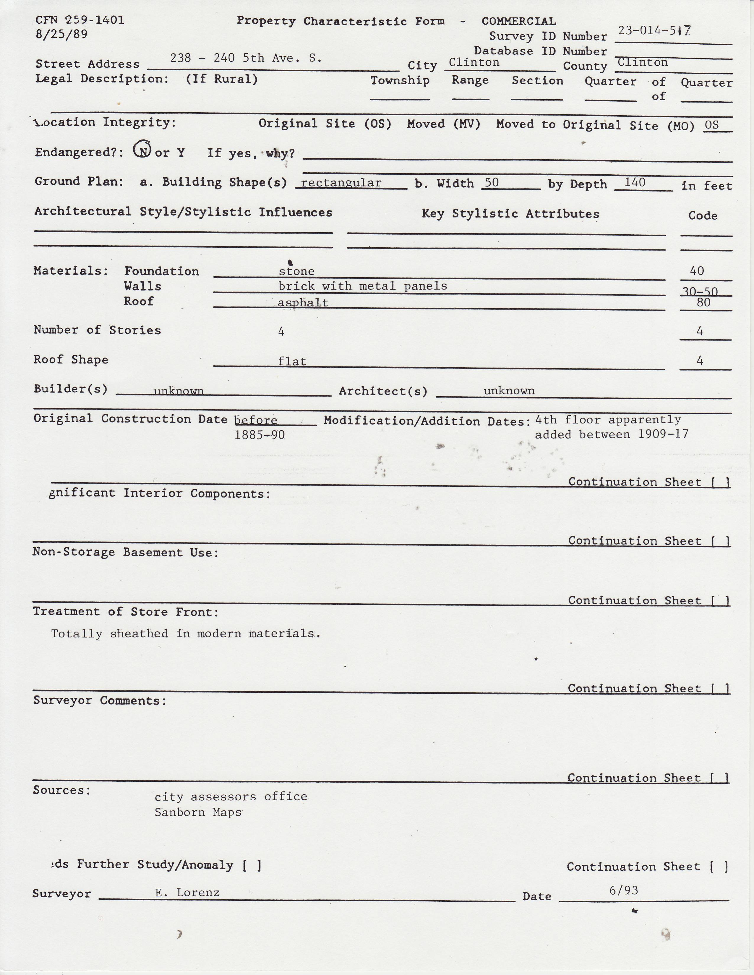 Probate Inventory Form 706