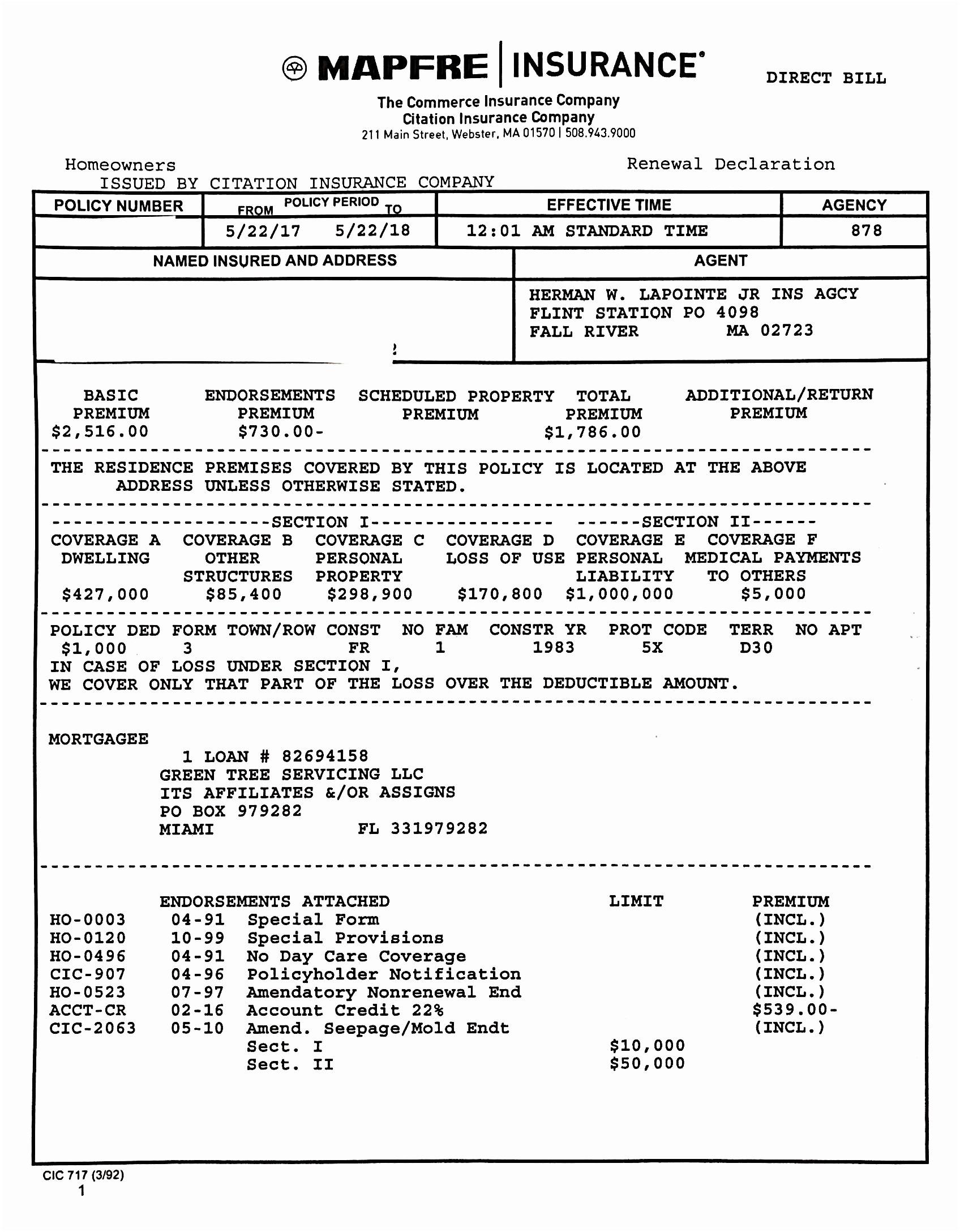 Progressive Sr22 Quote Auto Insurance Declaration Page Unique Sr 22 Form