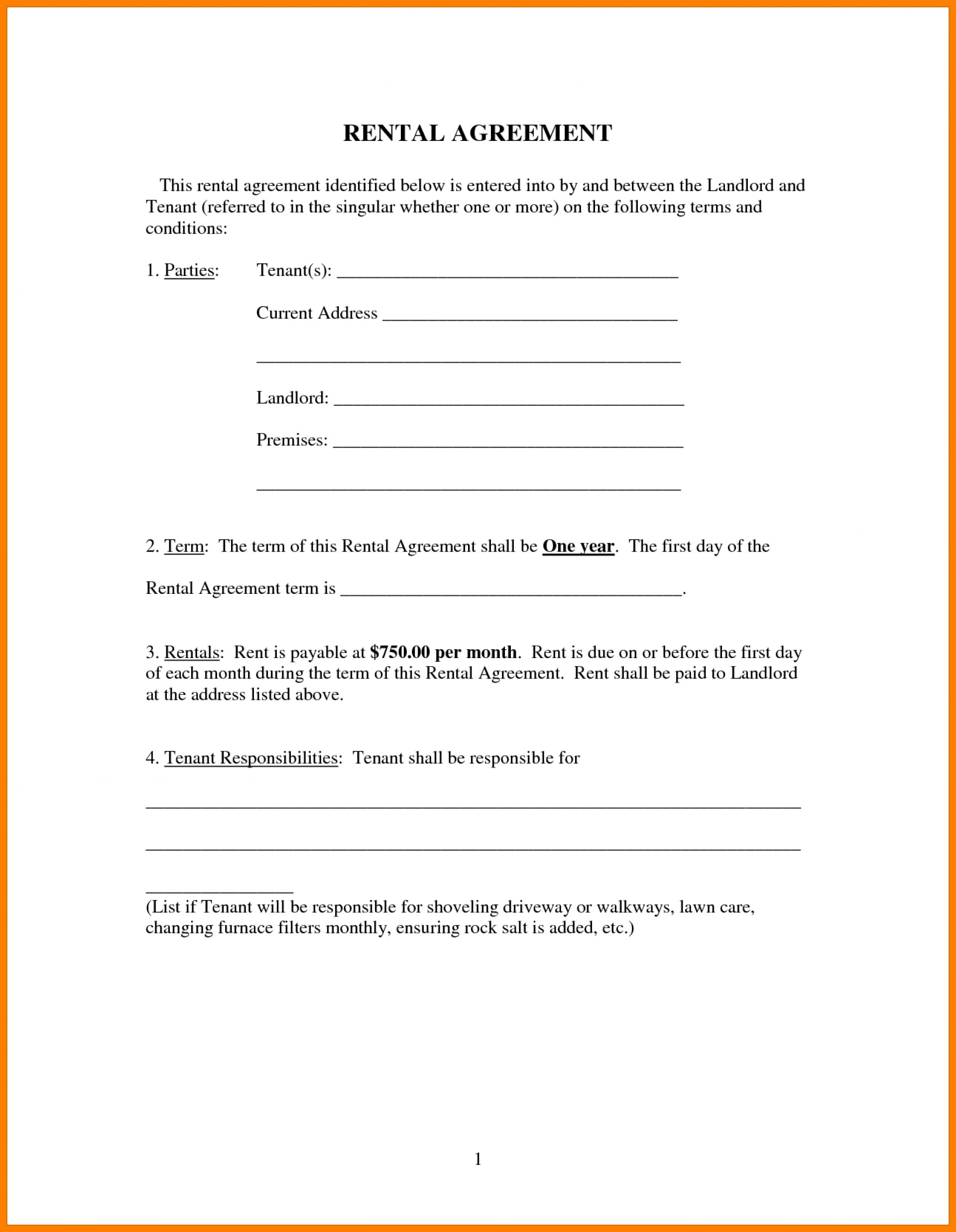 Simple House Rent Agreement Format In Marathi Awesome Formidable Simple Lease Agreement Form Templates Rental Format