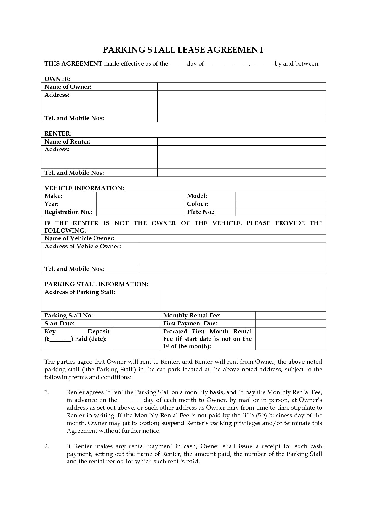 Rental Agreement Template Free Bamboodownunder Com Bc Rental Agreement Form