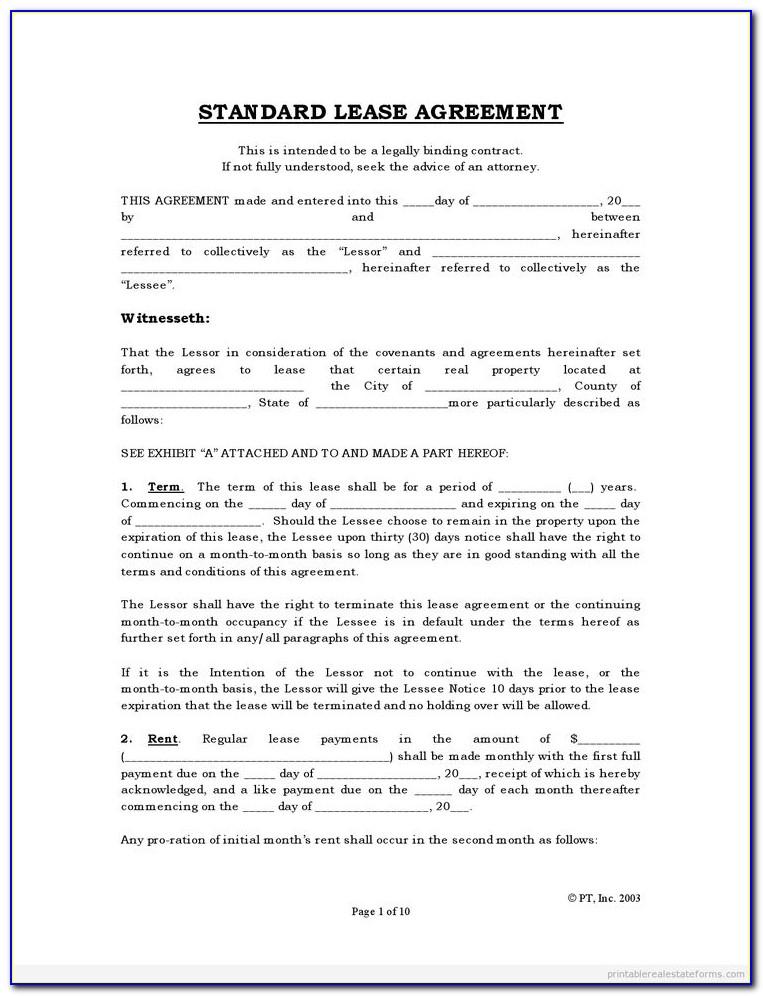 Rental Agreement Form Ontario