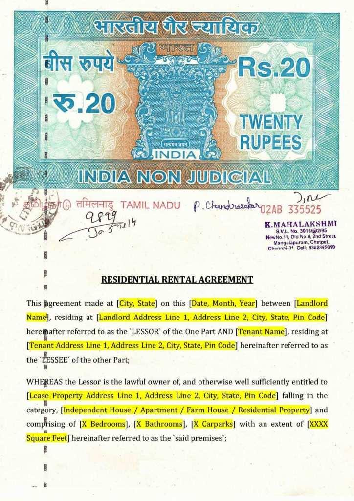 House Rental Agreement Pdf 41732 Rent Agreement Format