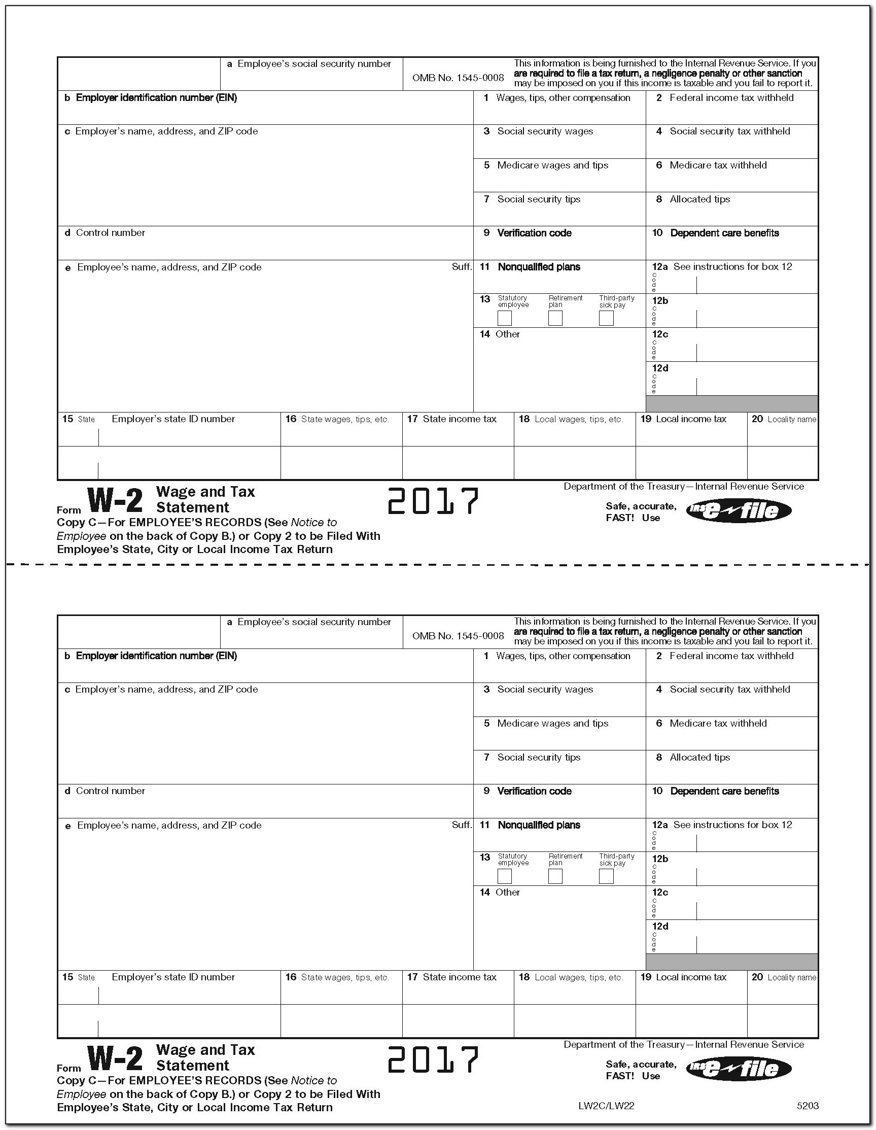 Request W2 Form From Employer
