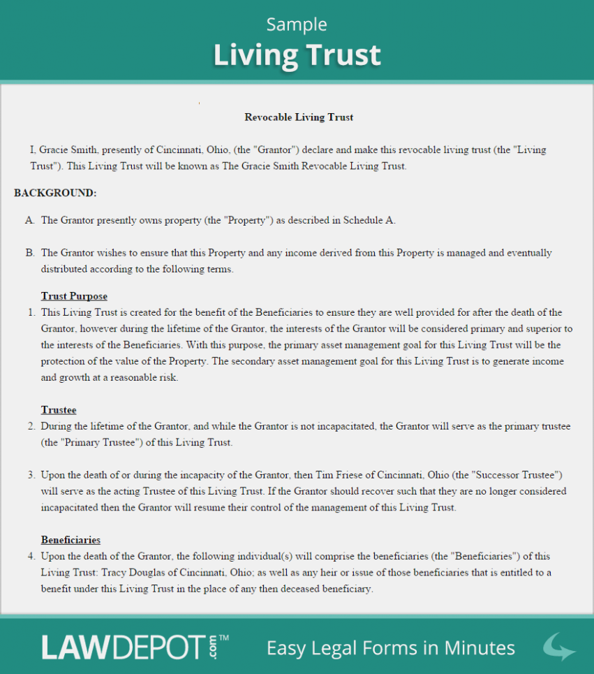 Revocable Living Trust Forms Free