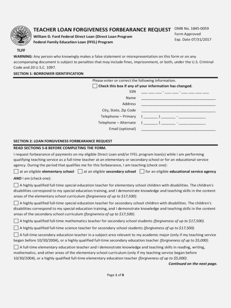 Sallie Mae Loan Forgiveness Application For Teachers