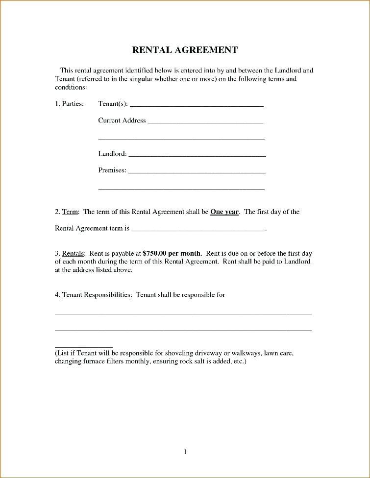 Sample Rental Agreement Format Bangalore