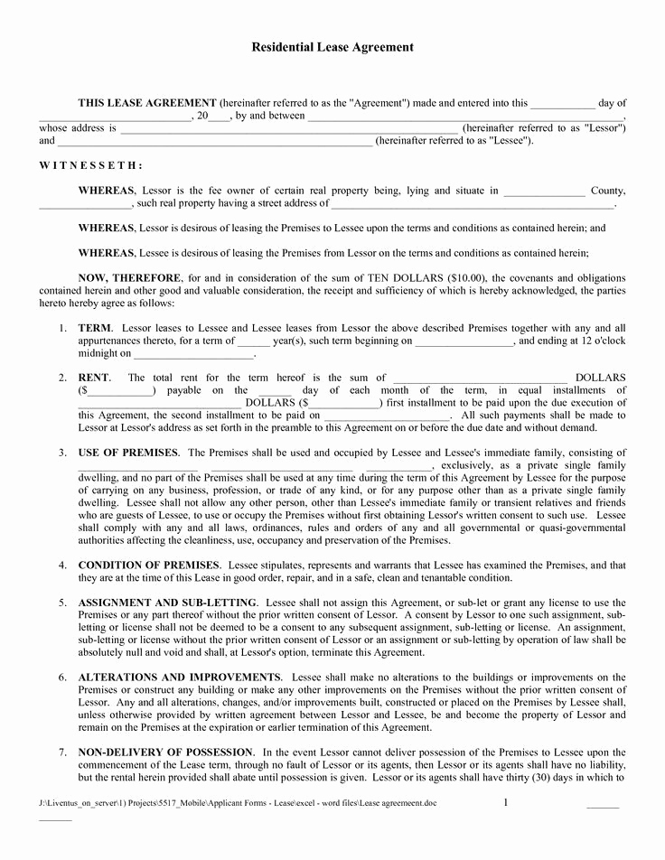 House Rent Agreement Sample Luxury Printable Sample Rental Lease Agreement Templates Free Form