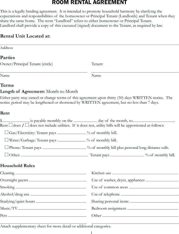 Sample Rental Application Form Ontario