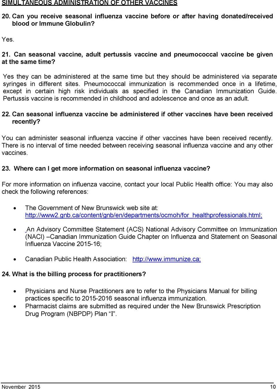 Seasonal Influenza And Pneumococcal Vaccine Consent Form Manitoba