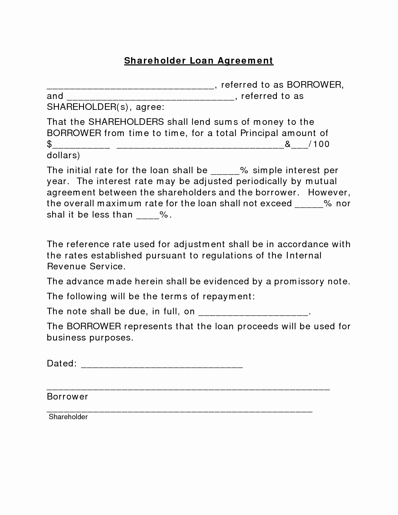Personal Contract Templates Inspirational Sample Simple Personal To Simple Personal Loan Agreement Template
