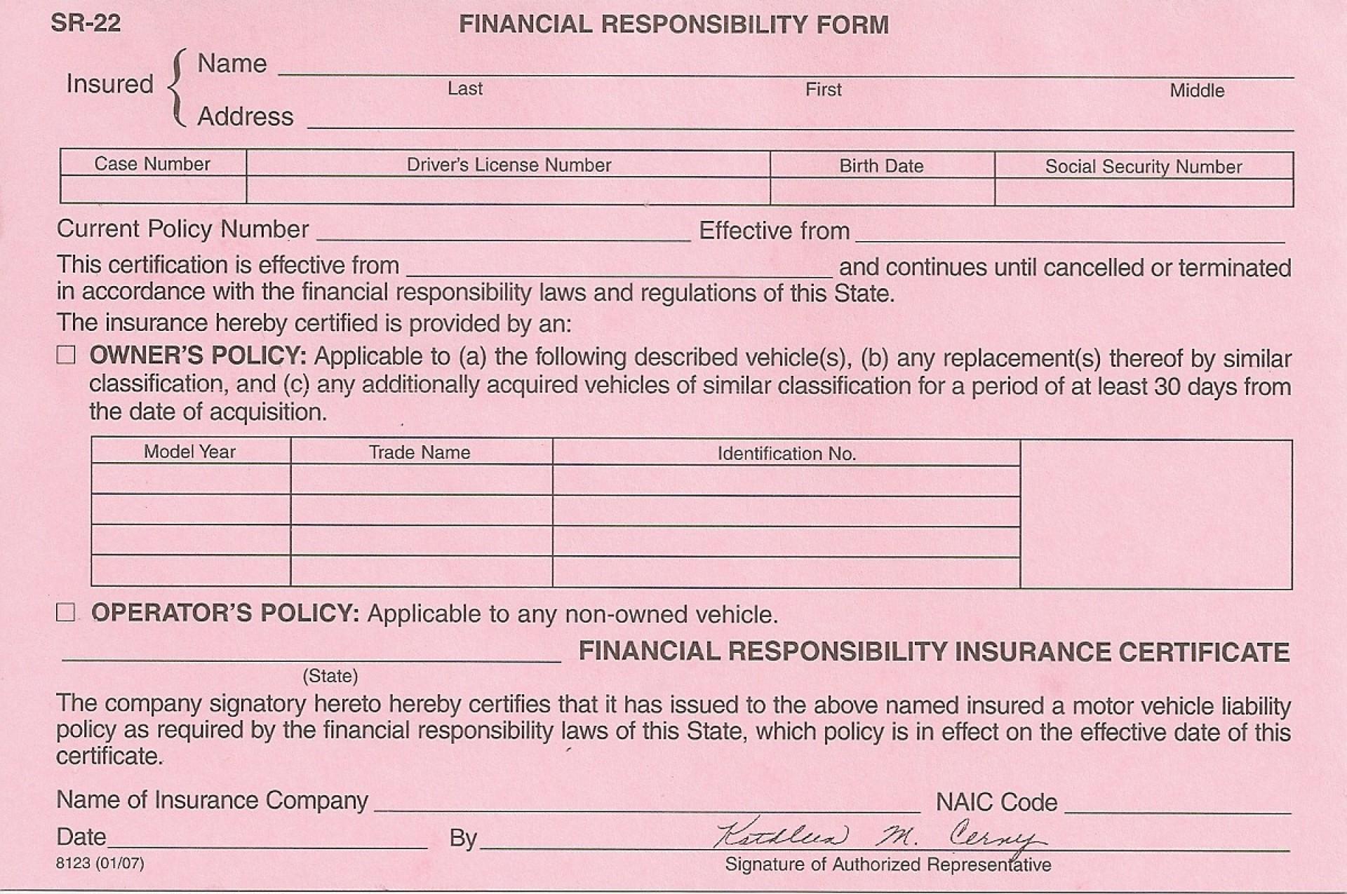 Sr22 Insurance Form Florida | Universal Network