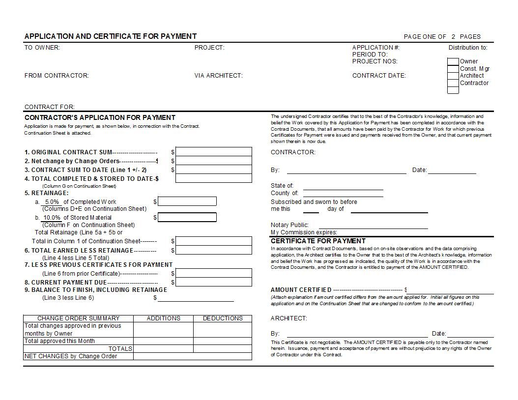 Standard Aia G702 Form