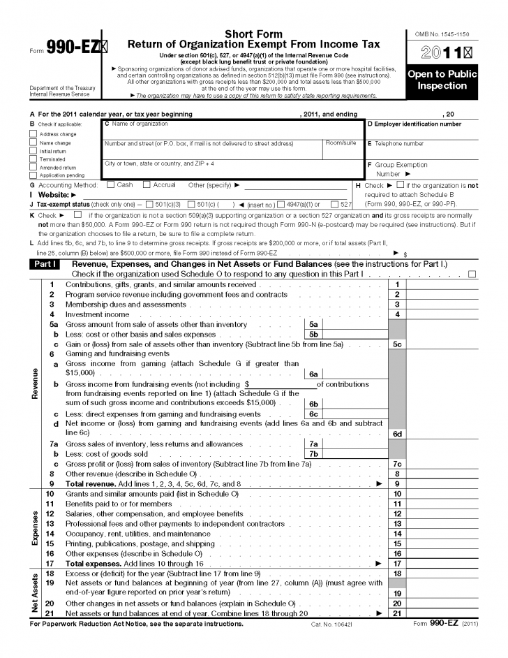 Tax Ez Form Instructions