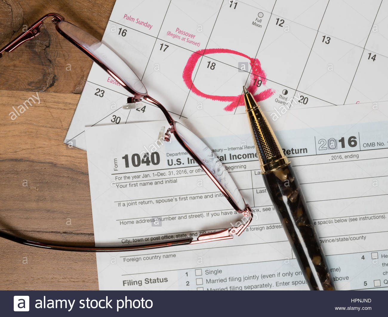 Tax Form 1040 For 2016