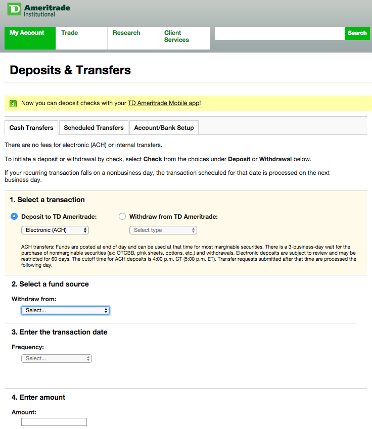 td bank address for wire transfer