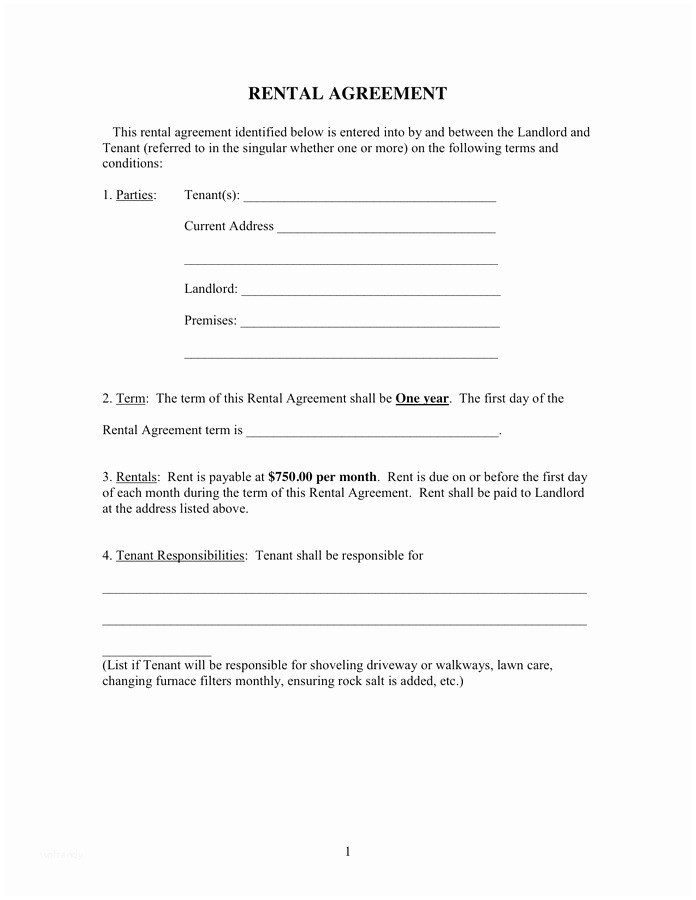 Landlord Tenant Agreement Form Awesome Free Lease Agreement Form Images