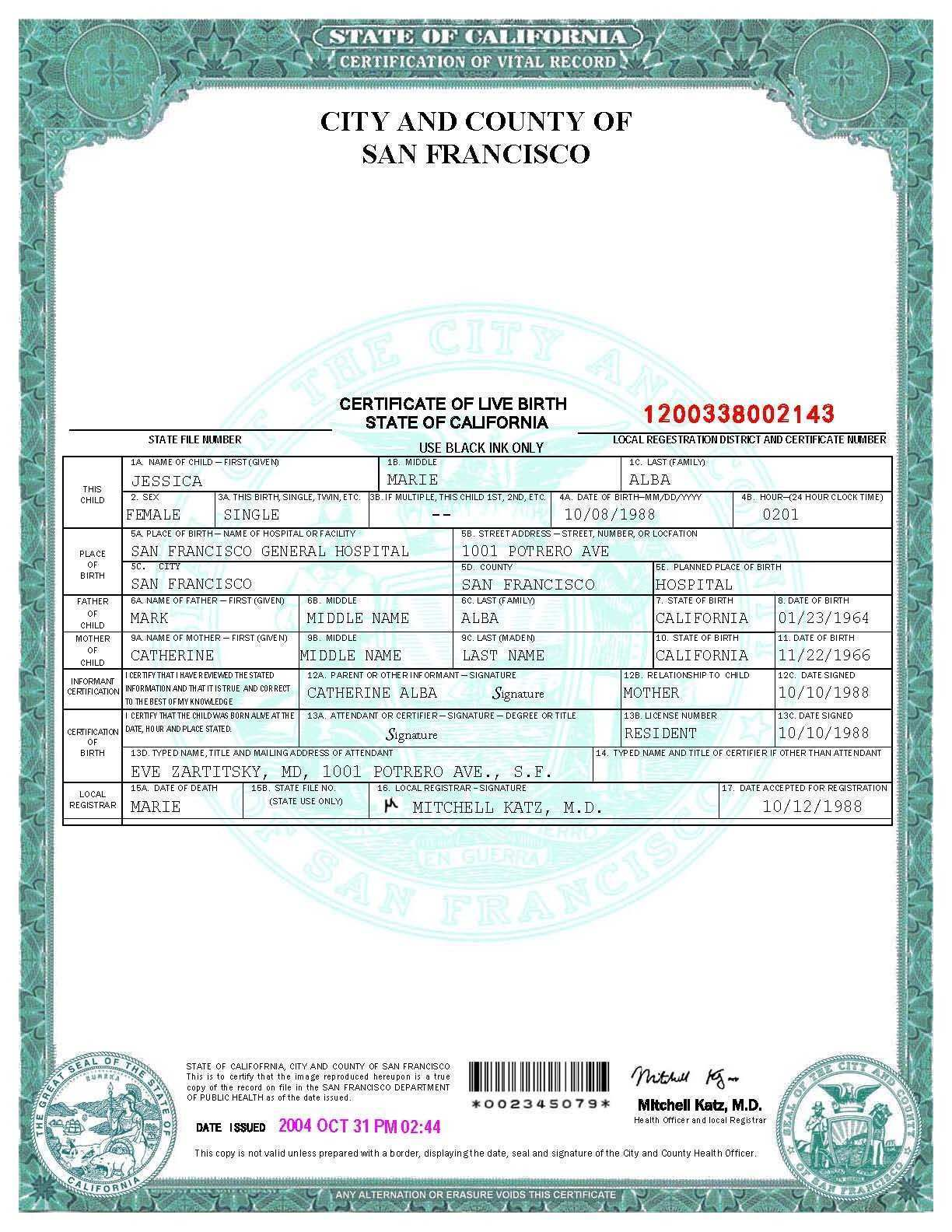 Birth Certificate Mn Best Of San Francisco Birth Certificate Template Templates