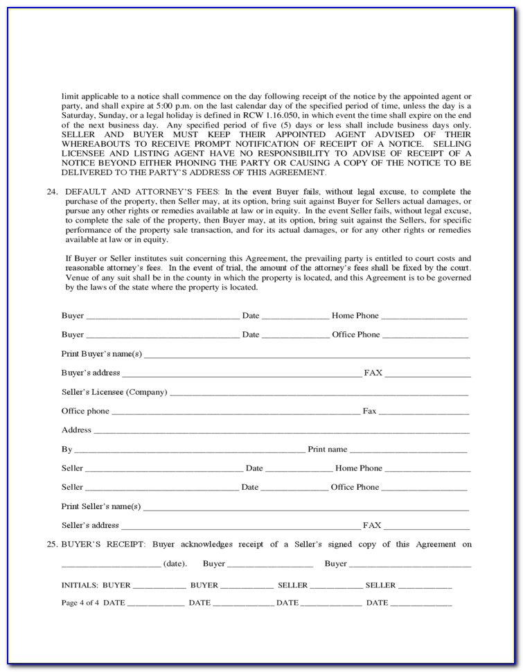 Texas Real Estate Earnest Money Contract Form