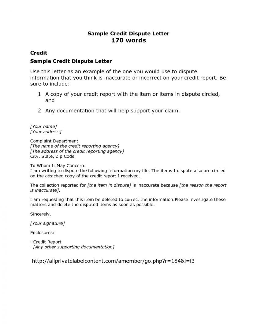 Credit Report Sample Of Credit Dispute Form Transunion Archives Land Template Pdf Letter