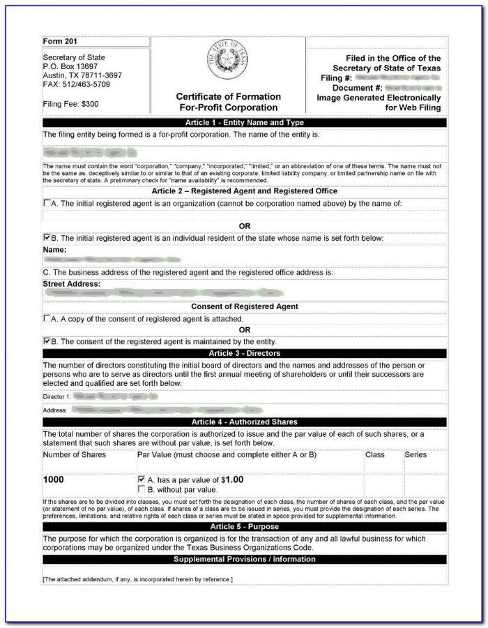 Ucc Filing Form Texas