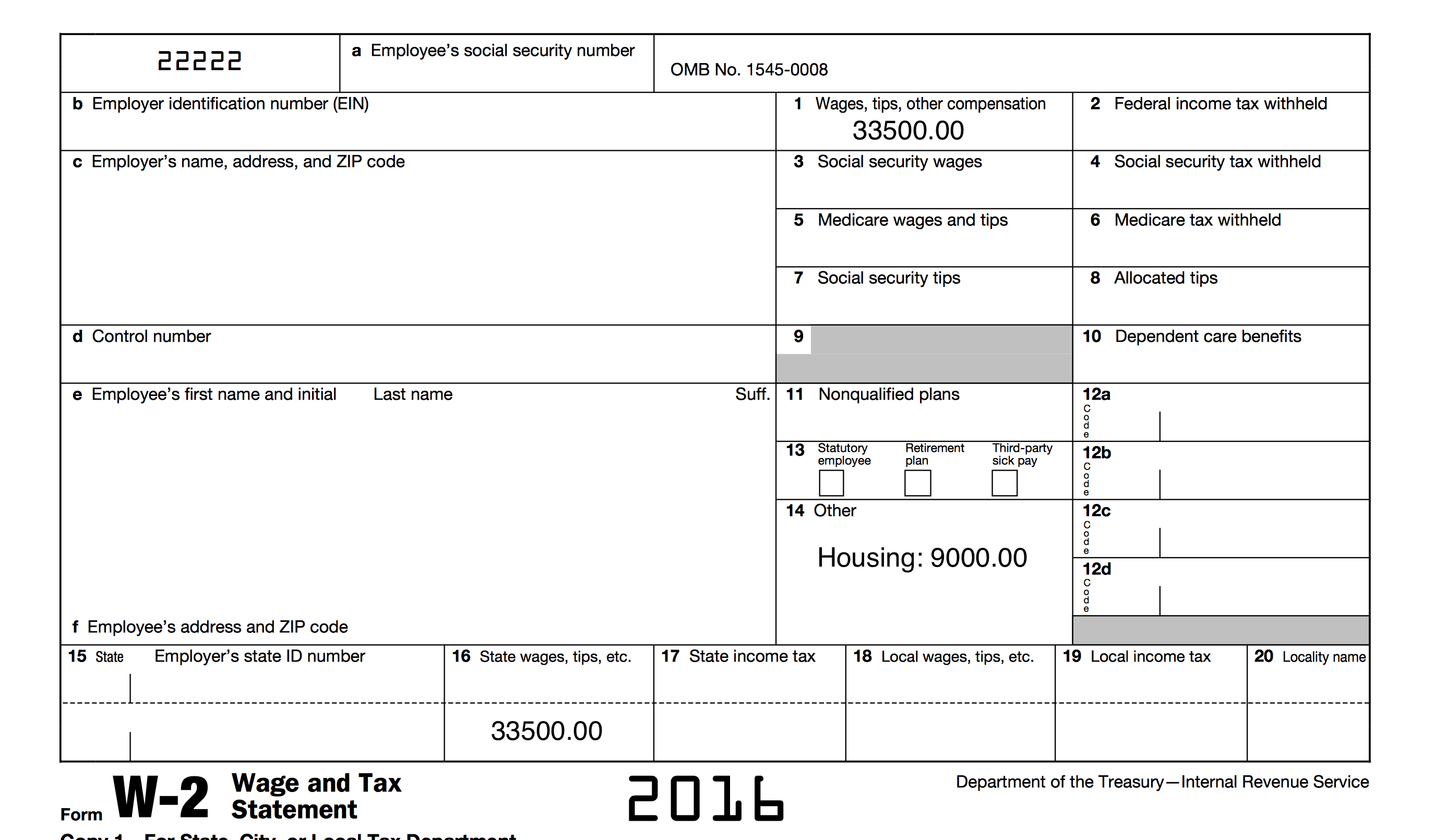 W 3c Fillable Form 2016
