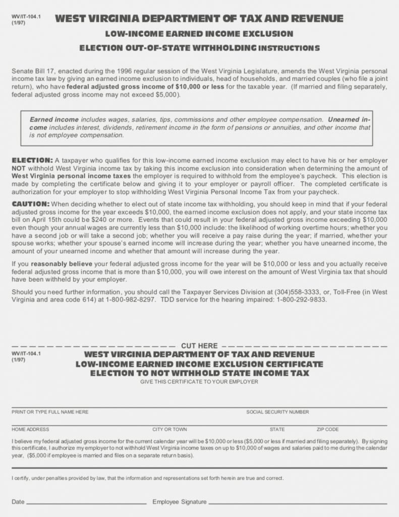 West Virginia State Tax Exemption Form
