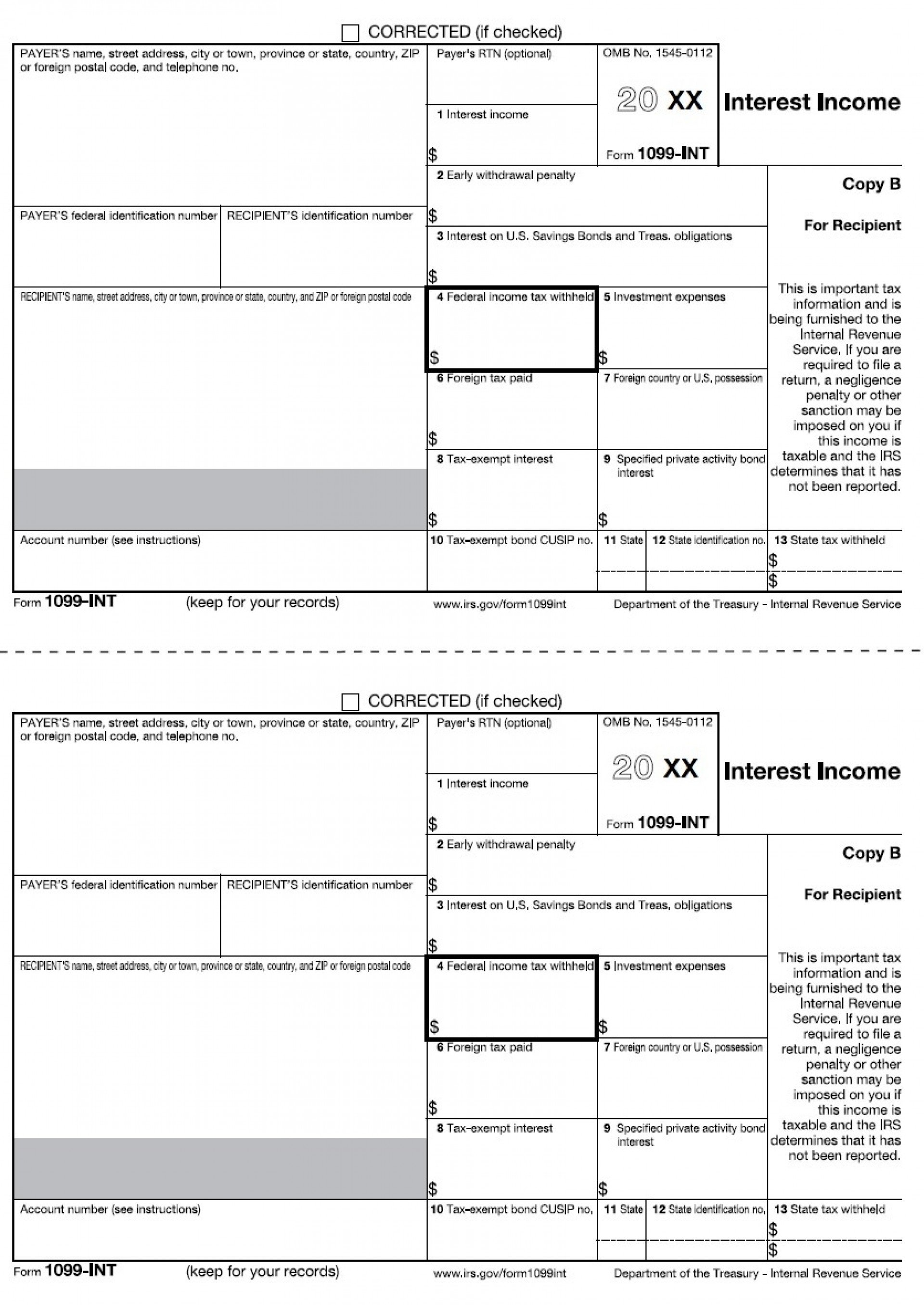 What Is A 1099 Int Tax Form Used For