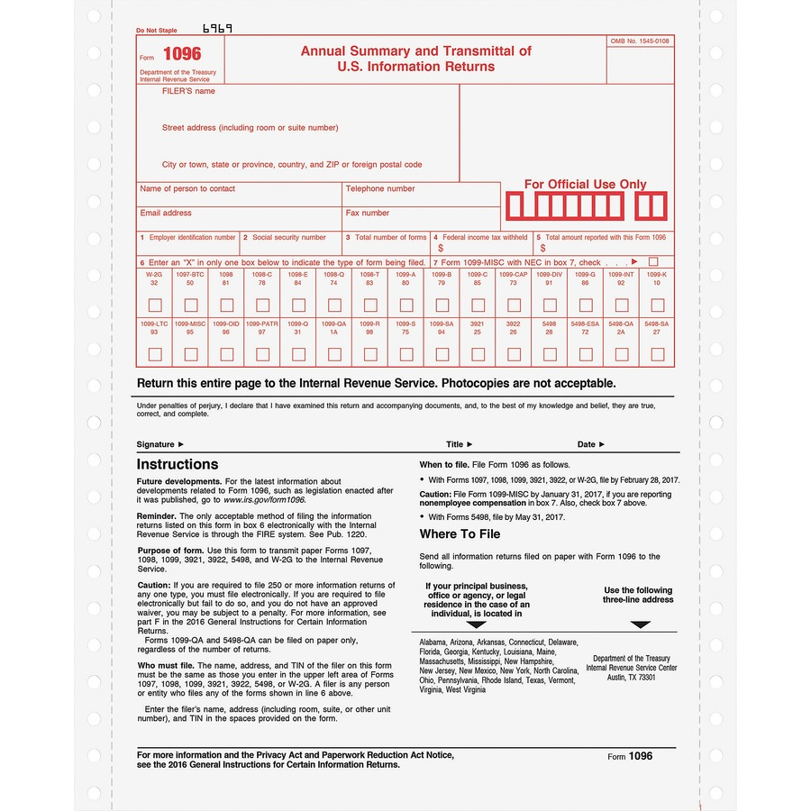 Where To Buy 1099 And 1096 Forms